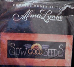 Bucilla Alma Lynne Designs Sow Good Seeds Sunflower Counted Cross Stitch 41397 - $14.41