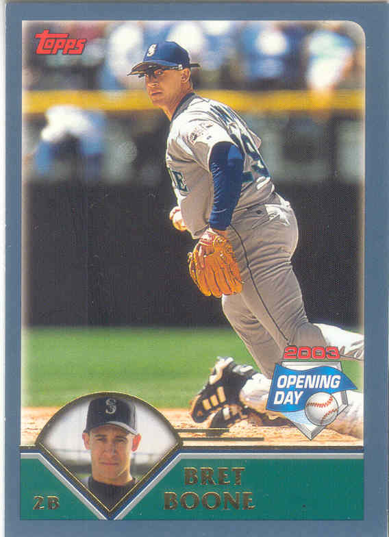 Bret Boone ~ 2003 Topps Opening Day #71 ~ Mariners