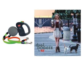 Retractable Dual Leash for Dog - Walk 2 dogs same time Technology - $50.49