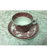 Vintage, Woods & Sons, England, 2pc Red Willow Cup and Saucer - $14.20