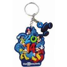 Disney Sorcerer Mickey & The Gang 2014 Rubber Key Ring/Chain - $14.80