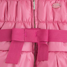 Mayoral Baby Girls Bow Front Puffer Jacket With Removable Hood image 3