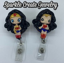 Wonder Woman Clay Retractable Badge Reel image 1
