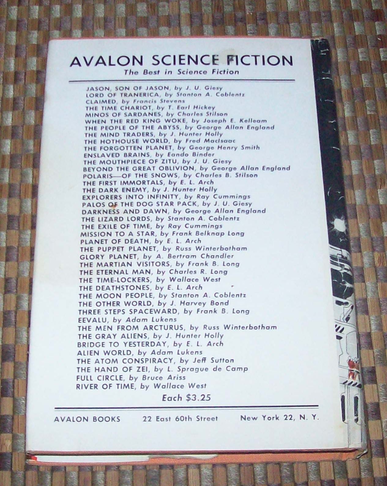 Jason, Son of Jason by J. U. Giesy 1966 HBDJ Avalon Sci-Fi