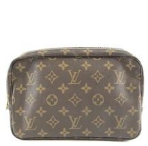 #31922 Louis Vuitton Cosmetic Case Trousse Toilette 23 Pouch Canvas Clutch - £213.29 GBP