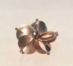 "Large Vintage Mid Century  Brass Flower  Pin/ Brooch 2.25"" - $10.88"