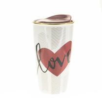 Starbucks Valentine Day Red Heart Love Ceramic Traveler Tumbler Mug 12oz - $47.82