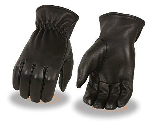 Primary image for Men's American Deer Skin Blk Leather Gloves Unlined with Cinch Wrist Soft Summer
