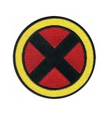 """X-MEN IRON ON PATCH 3"""" Yellow Red Black X Comic Super Hero Embroidered A... - $5.99"""