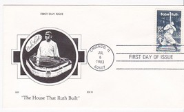 BABE RUTH #2046 CHICAGO, IL JULY 6, 1983 KH RICH CACHET D-987 - ₹217.21 INR