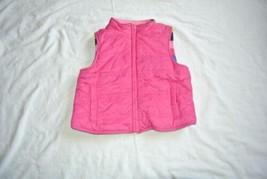 Gymboree Fleece Pink striped vest S 5-6 - $9.85