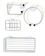 4 piece Bathroom Set Soap Holder Towel Holder Toilet Paper Holder Shampo... - $8.90