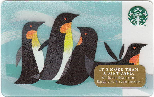 Starbucks 2014 Penguins Collectible Gift Card New No Value - $3.99