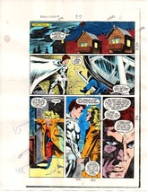 1 of a kind original 1984 Moon Knight 37 page 4 Marvel Comics color guid... - $39.59