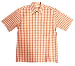 M NWT Joseph Abboud Light Orange Checked Short Sleeve Button Down Shirt ... - €25,88 EUR