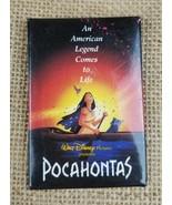 Vintage Walt Disney Pocahontas promo button pin An American Legend Comes... - $13.86