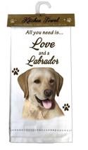LABRADOR RETRIEVER YELLOW DOG KITCHEN DISH TOWEL - $9.99