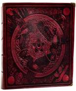 """600 Page Morrigan ancient parchment, 8"""" x 10"""" unlined Spell Book Red whi... - $166.99"""