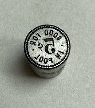"Antique ""Good For 5¢ In Pool"" Pool Hall Billiards Trade Token Reverse Di... - $24.74"