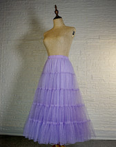 Princess Long Tulle Skirt Outfit Tiered Sparkle Tulle Skirt High Waist Plus Size image 4