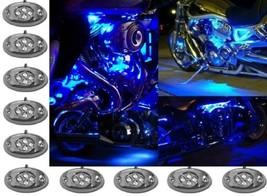 Octane Lighting 10PC Blue Led Chrome Modules Motorcycle Chopper Frame Neon Glow - $27.67