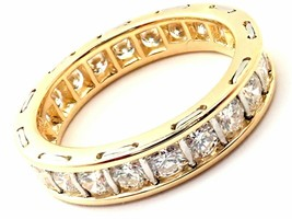 Rare! Vintage Authentic Cartier 18k Yellow Gold Diamond Eternity Band St... - $12,000.00