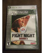 Fight Night Round 3 (Xbox 360, 2007) Platinum Hits Rated T ESPN 2 Player... - $39.19