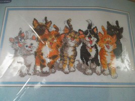 Suzy's Zoo 2001 Kittens Cats Counted Cross Stitch Tails of Duckport Janlynn - $16.95