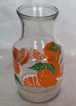 Vintage ANCHOR HOCKING- ORANGE JUICE PITCHER/Ca... - $7.95
