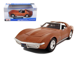 1970 Chevrolet Corvette Bronze 1/24 Diecast Model Car by Maisto - $50.99