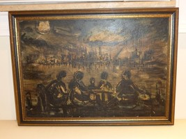 Signed by Unknown Artist Vintage 1959 Oil on Board - $999.00