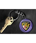 Baltimore Ravens Shield Logo Keychain Key Chain NFL - $6.78