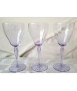 Tiffin Water Wine Neodymium Alexandrite Glasses Optic Ribs Set of 3 Rare - $118.70