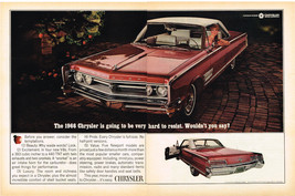 Vintage 1966 2-Page Magazine Ad Chrysler Temptations Beauty Luxury Pride Value - $5.93