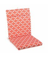 "Coral Trellis Outdoor Patio Chair Cushion Pad Hinged Seat Back 44"" L x 2... - £46.19 GBP"