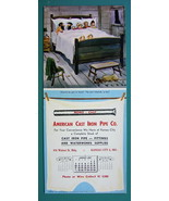 INK BLOTTER 1951 - Hillbillies in Bed & AD for Cast Iron Pipe Co Kansas ... - $4.49