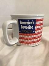 CAMPBELL'S SOUP MUG CUP CHICKEN NOODLE FLAG MUG ORIGINAL AMERICA'S FAVOR... - $6.79