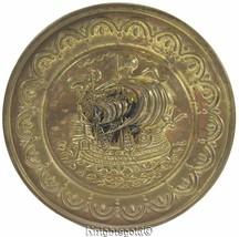 "Brass Wall Plate Tall Ship Galleon Nautical Maritime 25 cm / 10"" Diameter - $21.96"