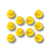 REPLACEMENT YELLOW SPOUT CAP TOP FOR BLITZ FUEL GAS CAN (PACK OF 10) - $10.88
