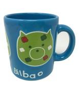 Guggenheim Bilbao Blue Pig Piggy Waechtersbach Coffee Cup Mug Made in Spain - $99.99