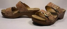 Dansko Women's Tan Brown Leather Slides Clog Sandals Sz.39/8.5-9 Walking... - $67.70
