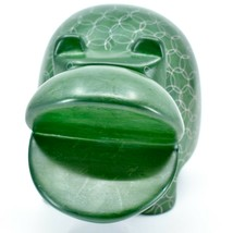 Vaneal Group Hand Carved Soapstone Large Heavy Green Hippopotamus Hippo Bookend image 2