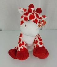 "Ty Pluffies Kisser Giraffe Stuffed Plush Toy Red White Spot 2007 9"" Beanie Baby - $39.59"