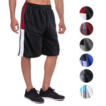 Men's Athletic Mesh Workout Fitness Training Basketball Sports Gym Shorts image 1