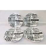Ciroa Cheese Dessert Appetizer Bread Plates Set of 4  - $26.99