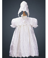 Baby Girls Elegant Embroidered Satin Christening & Baptism Dress Size 3-... - $68.00