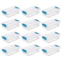 Sterilite 19618606 Small Clip Box Clear Storage Tote Container w/Lid 12 ... - $60.61 CAD