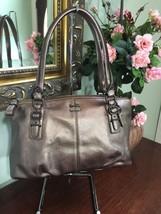 Coach Bag Madison Bronze Leather Small Satchel Purse F45918 B2C - $87.07