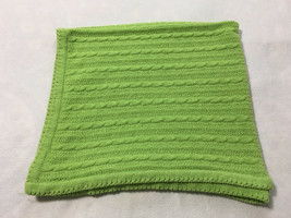 Circo Lime Green Chenille Cable Knit Baby Blanket Target Soft - $74.99