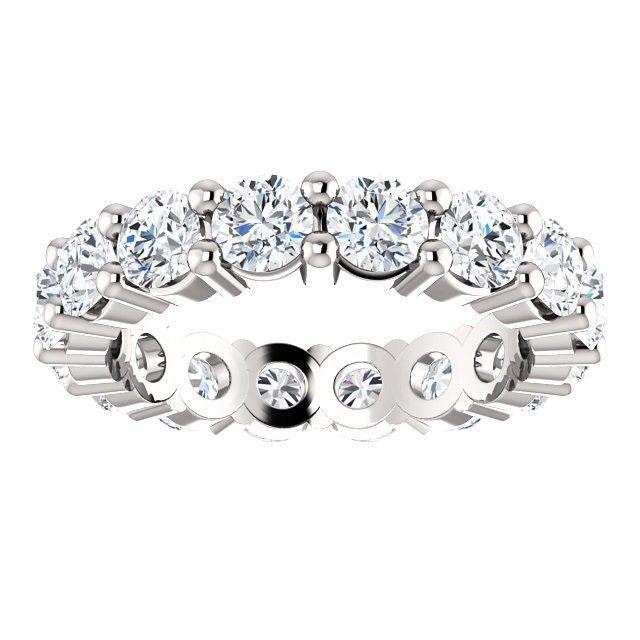3.00 Carat DEF VS1- VS2 Natural Diamond Eternity Ring in Plainum
